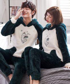 Winter Cute Couple Matching Pajamas 7