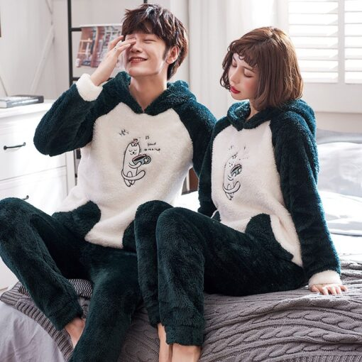 Winter Cute Couple Matching Pajamas 3
