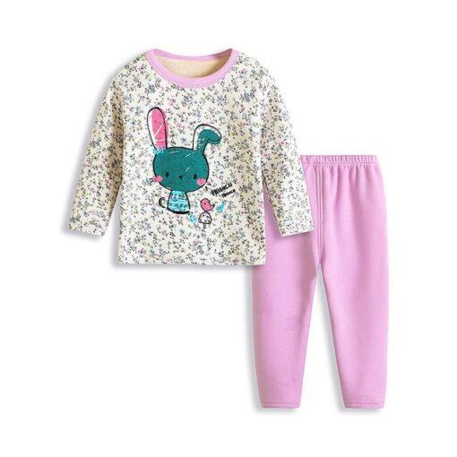 Enchanting Kids Cartoon Print Pajamas 1
