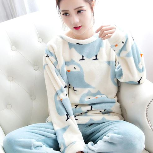 Thick Flannel Women Pajamas 1