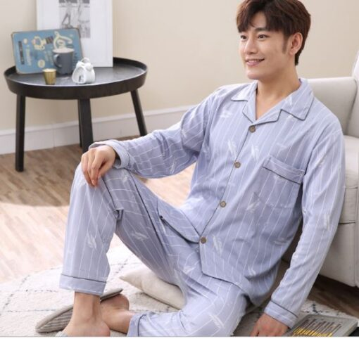 Cozy and Casual Striped Pajamas for Men 1