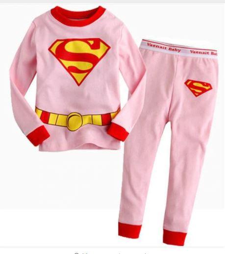 Amazing Superhero Theme Girls Pajamas 1