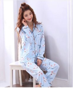 Cheerful Women's  Cartoon Print Pajamas 3