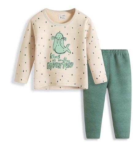 Lovable Cartoon Print Kids  Pajamas 1