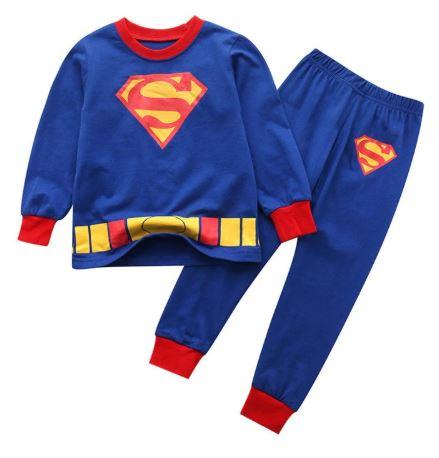 Cute Superhero Theme Kids Pajamas 1