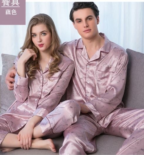 Elegant and Classy Couple Nightwear Pajamas 3