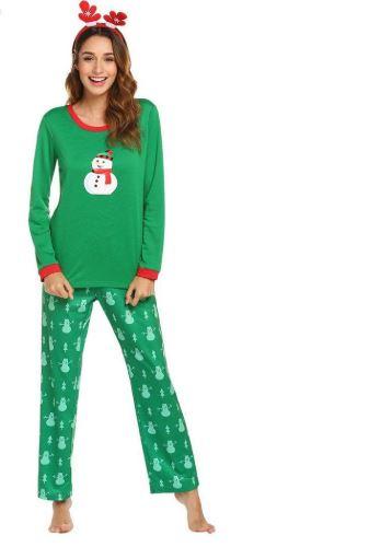 Christmas Snowman Prints Pajamas For Women 1