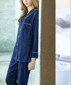 Classy Striped Print Pajamas 5