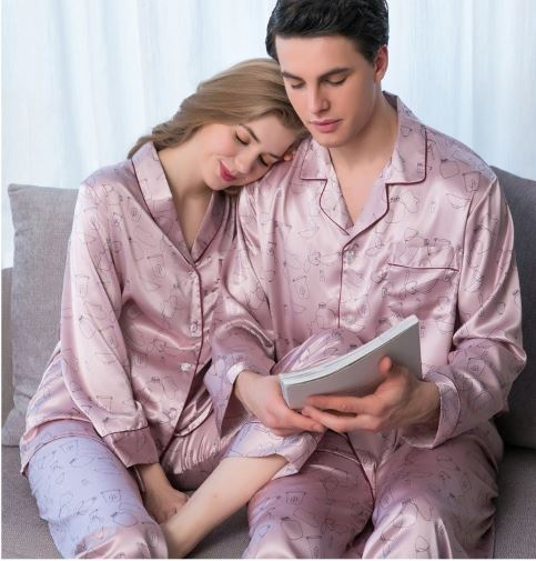 Elegant and Classy Couple Nightwear Pajamas 1