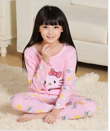 Cute Mother and Daughter Kitty Pajamas 4