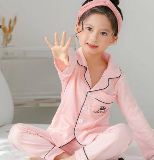 Solid Color Girl's Pajamas 4