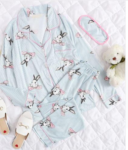 Cute Bunny Print Pajamas For Women 4