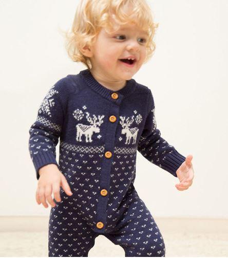 Adorable Reindeer Romper Pajamas for Kids 1