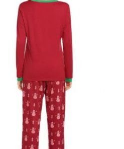 Christmas Snowman Prints Pajamas For Women 5