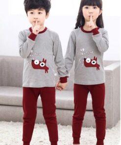 Cotton Unisex Night Suit Pajamas for Kids 4