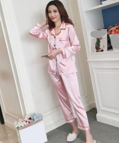 Solid Pink Pajamas for Women 5