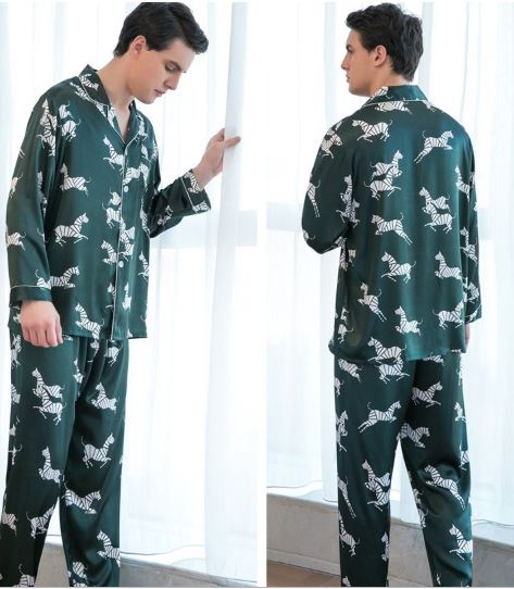 Voguish Printed Couple Pajamas 4