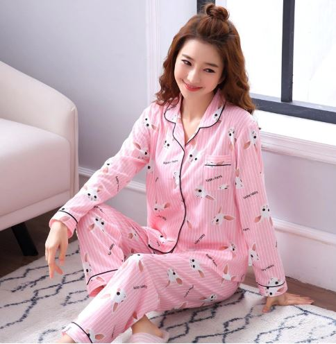 Pleasant Pink Printed Pajamas for Women 1