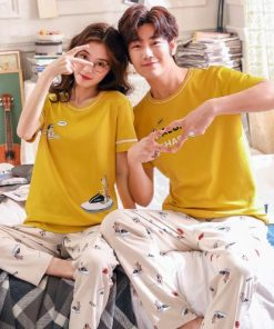 Summer Cute Matching Couple Pajamas 5
