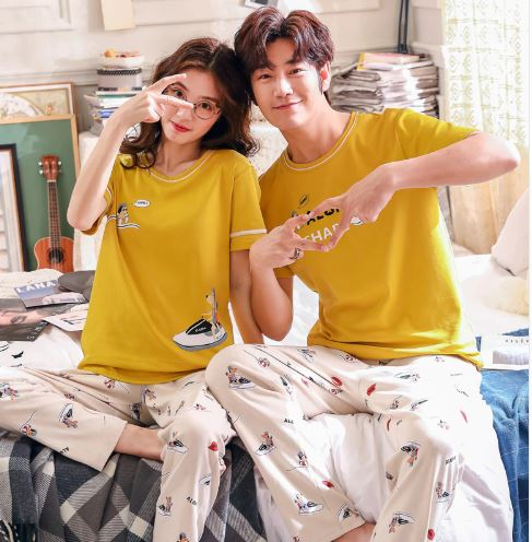 Summer Cute Matching Couple Pajamas 2