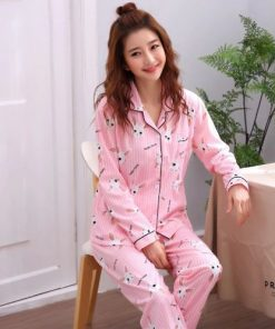 Pleasant Pink Printed Pajamas for Women 3