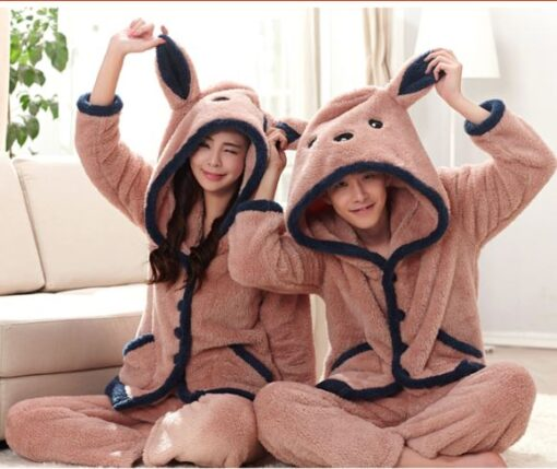 Winter Cute Couple Matching Pajamas 1