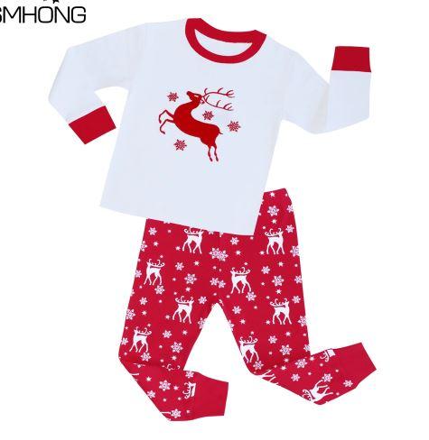 Cozy Christmas Reindeer Kids Pajamas 1