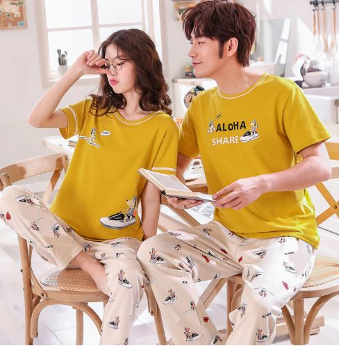 Summer Cute Matching Couple Pajamas 1