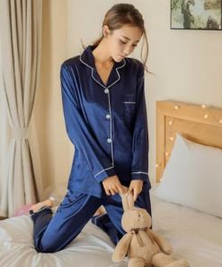 Adorable Satin Pajamas for Women 7