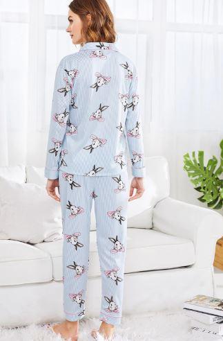 Cute Bunny Print Pajamas For Women 3