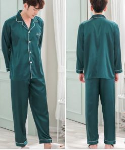 Solid Matching Pajamas For couple 22