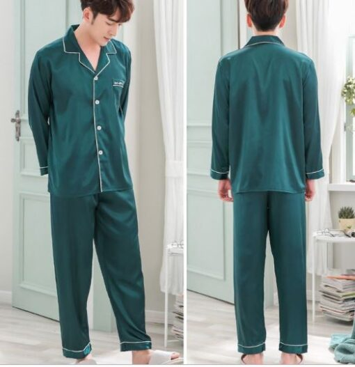 Solid Matching Pajamas For couple 11
