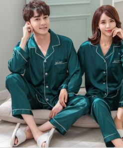 Solid Matching Pajamas For couple 18