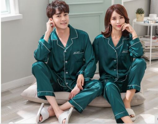 Solid Matching Pajamas For couple 7