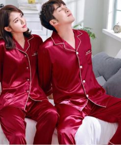 Solid Matching Pajamas For couple 13