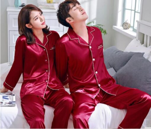 Solid Matching Pajamas For couple 2