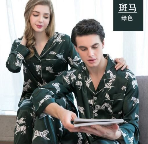 Voguish Printed Couple Pajamas 1