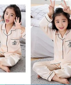 Cute Printed Pajamas For Mother and Daughter 5