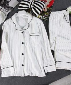 Black Friday Striped Pajamas for Women 3