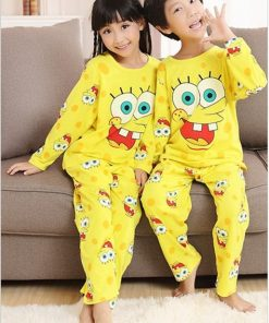 Cotton Matching Sponge-bob Pajamas Set For Family 5