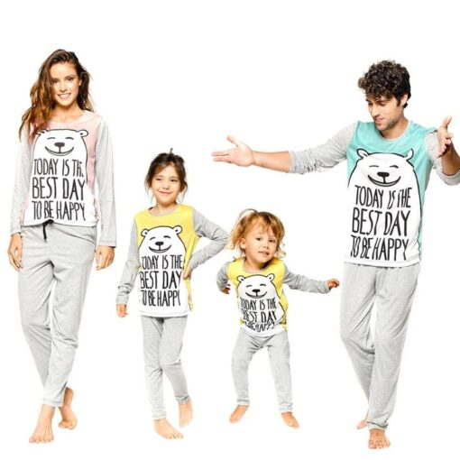 Family Matching Casual Easter Pajamas 1