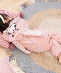 Easter Bunny Ear Onesie Pajamas 6