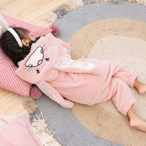 Easter Bunny Ear Onesie Pajamas 3