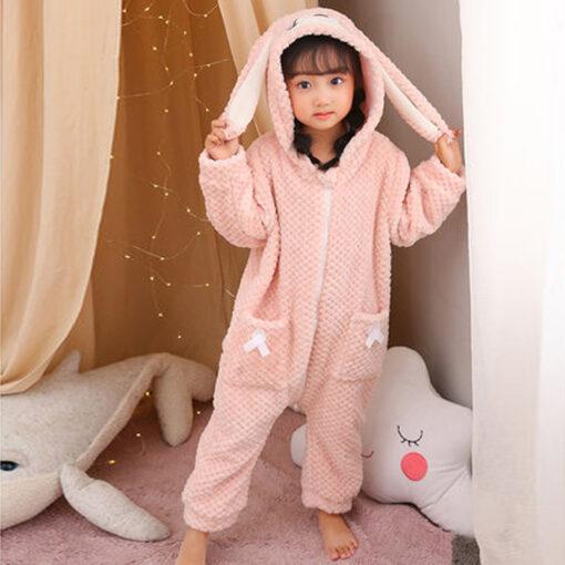 Easter Bunny Ear Onesie Pajamas 1