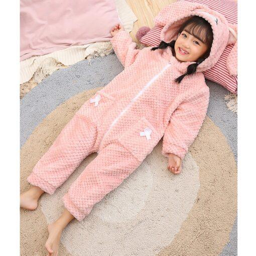 Easter Bunny Ear Onesie Pajamas 2