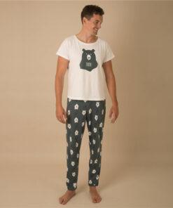 Casual Animal Print  Matching Pajamas For Family 9