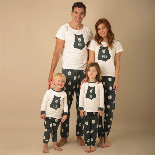 Casual Animal Print  Matching Pajamas For Family 1