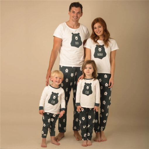 Casual Animal Print Matching Pajamas For Family 1
