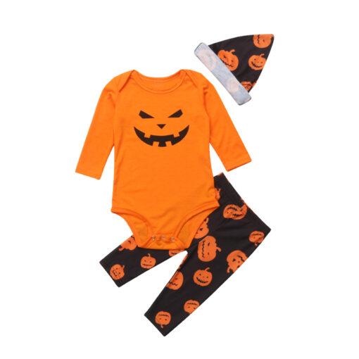 Jack-o'-lantern Printed Matching Family Pajamaas 2