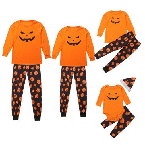 Jack-o'-lantern Printed Matching Family Pajamaas 1